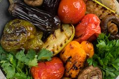 Grilled vegetables close Royalty Free Stock Photo