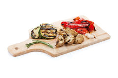 Grilled vegetables on cutting board Stock Image