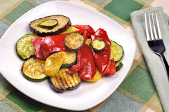 Grilled vegetables on dining table Royalty Free Stock Photography