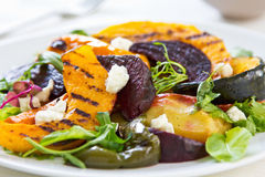 Grilled vegetables with feta cheese salad Stock Photos