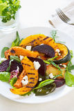 Grilled vegetables with feta cheese salad Stock Image