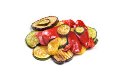 Grilled vegetables isolated on white Stock Photography