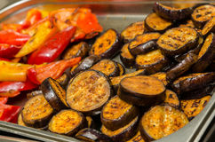 Grilled vegetables on kitchen Stock Photos