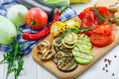 Grilled vegetables meal Royalty Free Stock Image