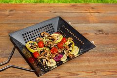 Grilled Vegetables Mix Royalty Free Stock Image