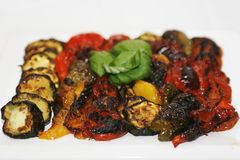 Grilled vegetables on a plate Royalty Free Stock Photo