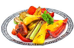 Grilled vegetables on a plate Royalty Free Stock Image