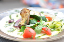 Grilled vegetables on a plate. Food Royalty Free Stock Images