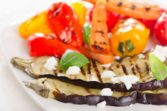 Grilled vegetables on a plate. Healthy food. Royalty Free Stock Photo
