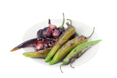 Grilled vegetables on plate Royalty Free Stock Photos