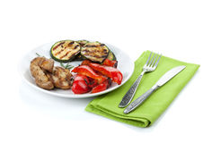 Grilled vegetables on plate Stock Photography