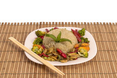 Grilled vegetables with rice Royalty Free Stock Images