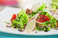 Grilled vegetables salad. Salad from grilled vegetables closeup Royalty Free Stock Photo