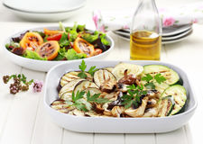 Grilled vegetables and salad with tamarillos Stock Image