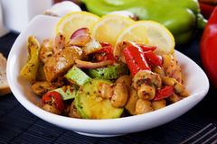 Grilled vegetables in white bowl Royalty Free Stock Images