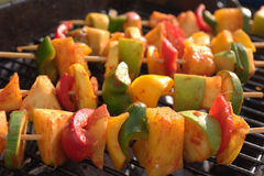 Grilled Veggies. Veggies in kabob style ready for grill royalty free stock photography