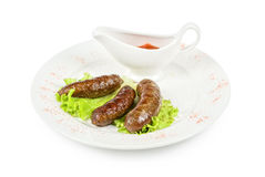 Grilled venison sausage Royalty Free Stock Image