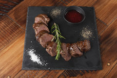 Grilled venison slices Royalty Free Stock Photo