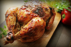 Grilled whole chicken with cumin seeds Stock Photos