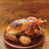 Grilled whole chicken Stock Image