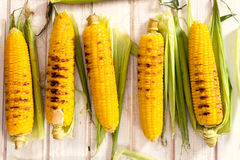 Grilled young corn Royalty Free Stock Images