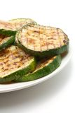 Grilled zucchini on а plate Royalty Free Stock Photos