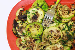 Grilled zucchini Stock Photography