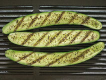 Grilled zucchini. Close up of grilled zucchini Stock Images