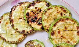 Grilled Zucchini Stock Photos