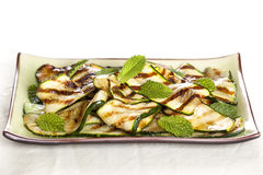 Grilled zucchini with Mint Royalty Free Stock Photography