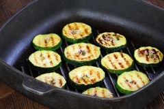 Grilled zucchini with oregano Royalty Free Stock Photo