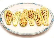 Grilled zucchini on a plate Stock Photography