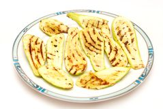Grilled zucchini on a plate Stock Photo