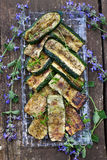 Grilled zucchini Stock Images