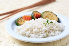 Grilled zucchini and rice Royalty Free Stock Images