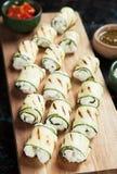 Grilled zucchini rolls Stock Photo