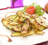 Grilled zucchini slices Royalty Free Stock Images
