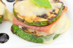 Grilled zucchini Stock Image