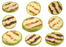 Grilled zuccini round slice Stock Images