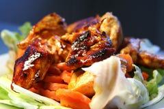 grilledchicken Royaltyfri Fotografi