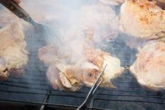 Grillen des Fleisches Stockfoto