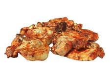 Grillen Sie Fleisch-Grill auf Weiß Stockfoto
