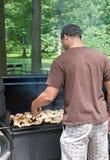 griller de poulet Image libre de droits