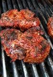 Griller le bifteck Photographie stock libre de droits