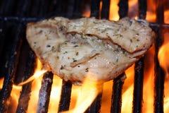 Griller le poulet Photographie stock