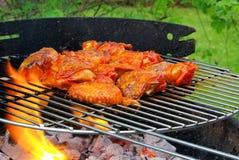 Griller le poulet Images libres de droits