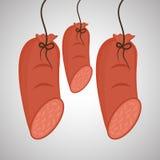 Grillez le concept de conception, de BBQ et de menu, vecteur editable Image libre de droits