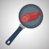 Grillez le concept de conception, de BBQ et de menu, vecteur editable Photo libre de droits