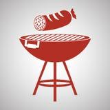 Grillez le concept de conception, de BBQ et de menu, vecteur editable Image stock