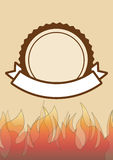 Grillez tout entier l'invitation de partie avec l'espace pour le texte, gril de BBQ Photo stock